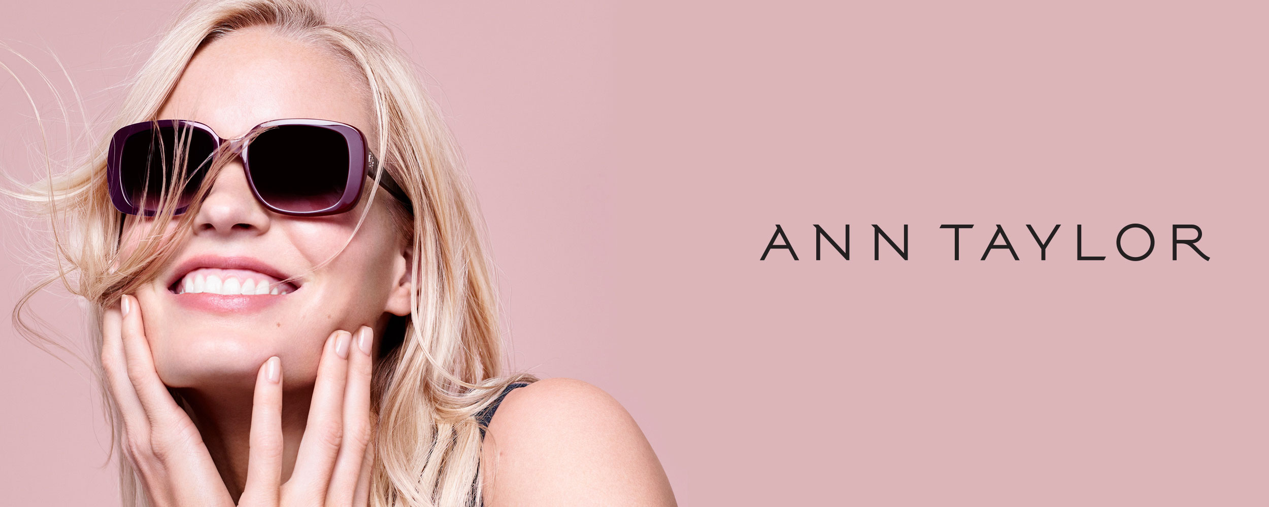 Ann Taylor Sun collection banner.