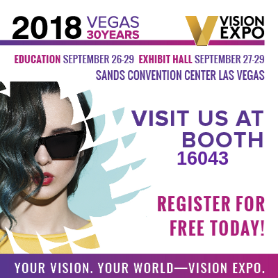 Vision Expo: Come to L'Amy America Booth #16043. Register for free today!