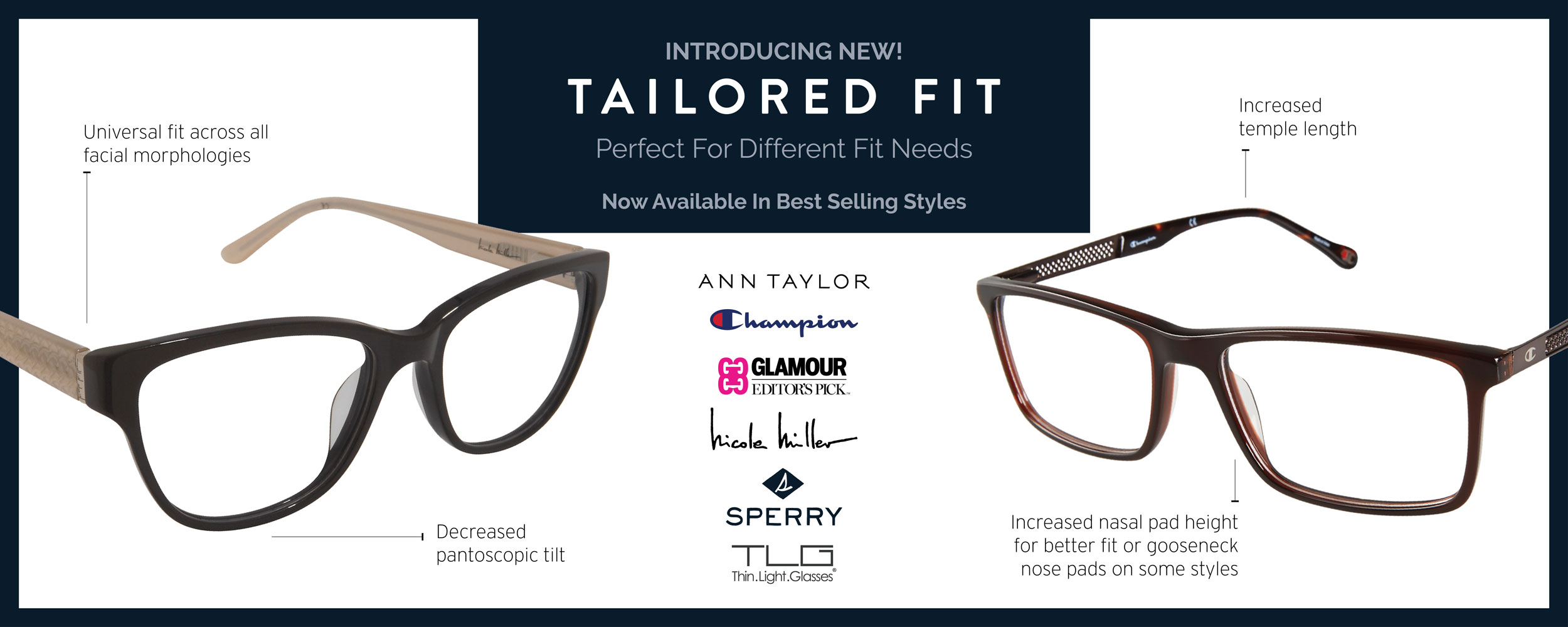 Introducing New! Tailored Fit. Perfect For Different Fit Needs. Now Available In Best Selling Styles.